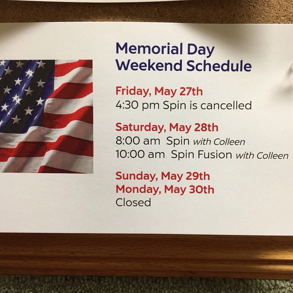 Plan Ahead With Our Memorial Day Weekend Schedule.
